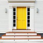 Yellow Simpson Front Doors