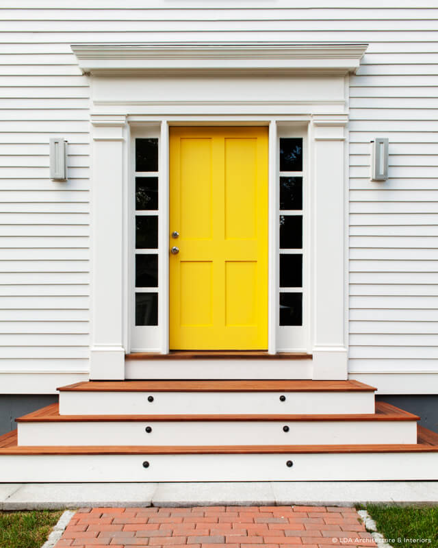 Yellow Simpson Front Doors
