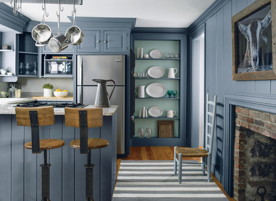 Creative Kitchen Design Ideas - Color in Unexpected Places