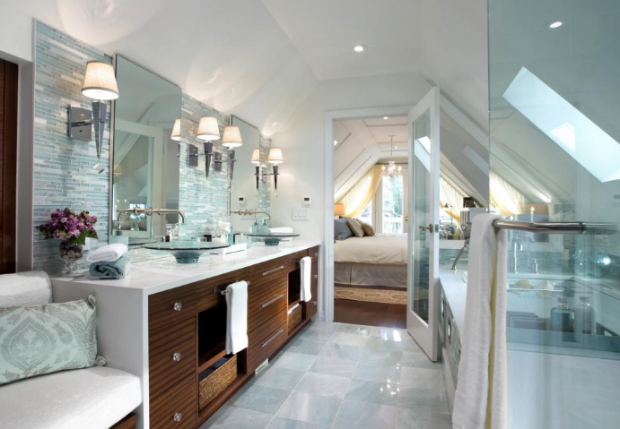 bright and clean bathroom design